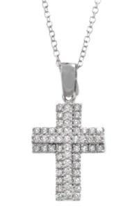 Σταυρός Λευκόxρυσoς 14 Καράτια