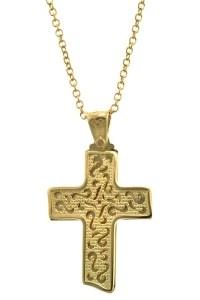 Βαπτιστικός Σταυρός Χρυσός 14 Καράτια