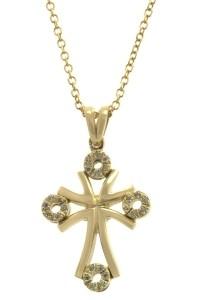 Val'Oro Βαπτιστικός Σταυρός Χρυσός 14 Καράτια