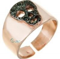 Δαχτυλίδι από ροζ επιχρυσωμένο Ασήμι 925