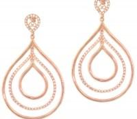 Σκουλαρίκια από ροζ επιχρυσωμένο Ασήμι 925