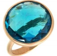 GREGIO Δαχτυλίδι από ροζ επιχρυσωμένο Ασήμι 925