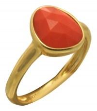OXETTE Δαχτυλίδι από επιχρυσωμένο ασήμι 04X05-01059