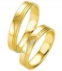 BREUNING Basic Light Βέρες Ζευγάρι Χρυσές 8 ή 14 ή 18 Καράτια
