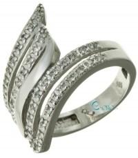 Δαχτυλίδι Λευκόχρυσο 14 καράτια