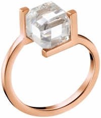 CALVIN KLEIN Daring Δαχτυλίδι από ροζ επιχρυσωμένο ανοξείδωτο ατσάλι KJ3HPR140106