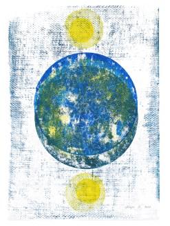 Atropos, 2019, Linoldruck, 44,5 x 30 cm