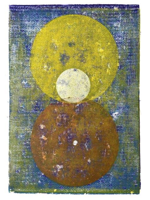 Congressus, Linoldruck, Satellit, 2020, Linoldruck, 45 x 33 cm
