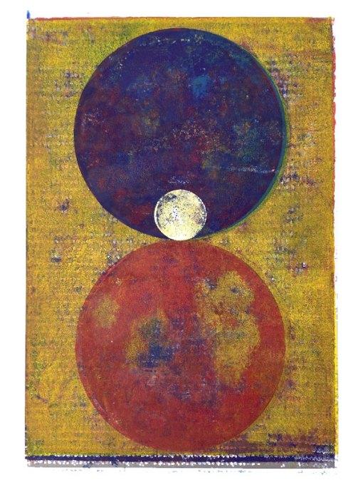 Orbes, 2020, Linoldruck, 45 x 30 cm
