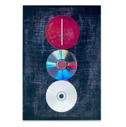 Dreigliederung, 2021, Assemblage, 45,5 x 32 cm