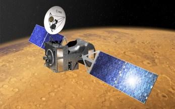 ExoMars 2016 Trace Gas Orbiter na orbicie Marsa - wizualizacja / Credit: ESA–D. Ducros