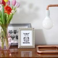 Lampe aus Kupferrohr