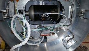 Testovaná COPV v útrobách rakety Black Brant IX.