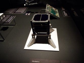 Model chystaného cubesatu VZLÚSAT-2
