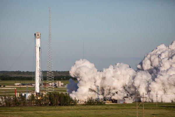 Centrální stupeň Falconu Heavy pro misi STP-2