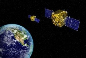 Vizualizaci družic GSSAP (Geosynchronous Space Situational Awareness Program)