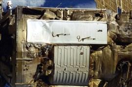 Detail pochroumaného radiátoru na Spektru