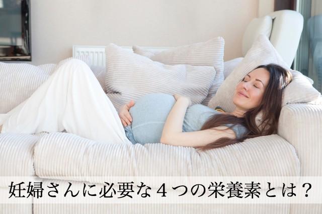 妊婦さんに必要な4つの栄養素とは?
