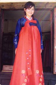 リトルワールドの衣装 チマ・チョゴリ