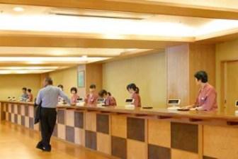 湯あみの島のフロントカウンター