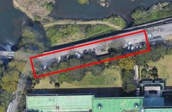 名鉄ホテル北側にある駐車スペースの航空写真