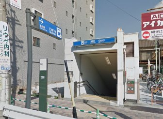 亀島駅の2番出口