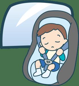 チャイルドシートを嫌がる1歳児