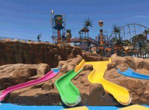 ナガシマプール子供幼児用スライダー