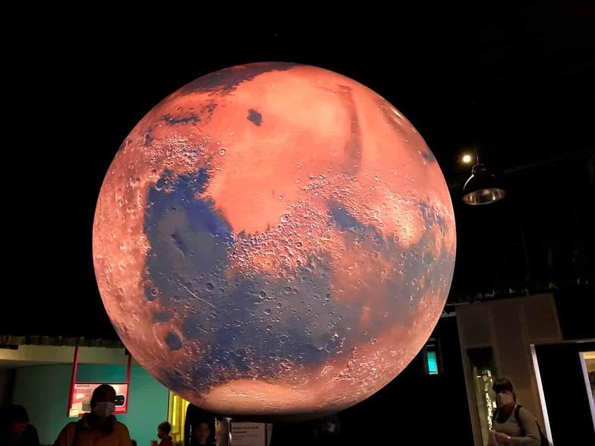 Queensland Museum 【SparkLab】に展示されているSphere の1つ「火星」の模型