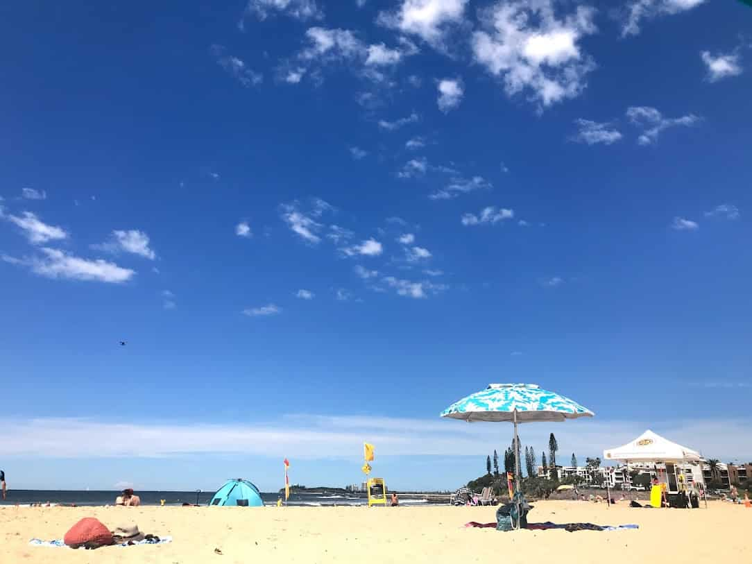 SEA LIFE のあるMooloolaba のビーチ