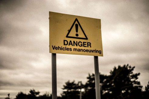 Under 17 Car Club Bovington Tank Danger Sign