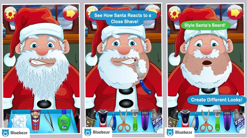 Hier können Kids den Weihnachtsmann rasieren