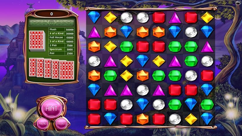 Bejeweled mit Poker-Modus
