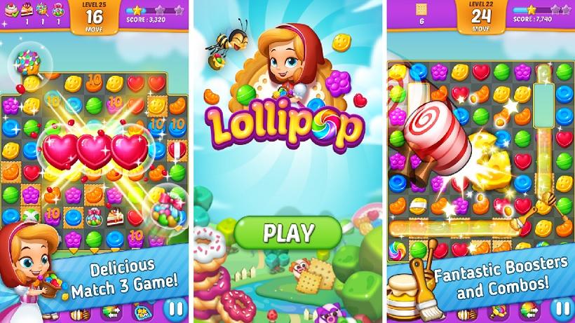 Lollipop Sweet Taste Match 3