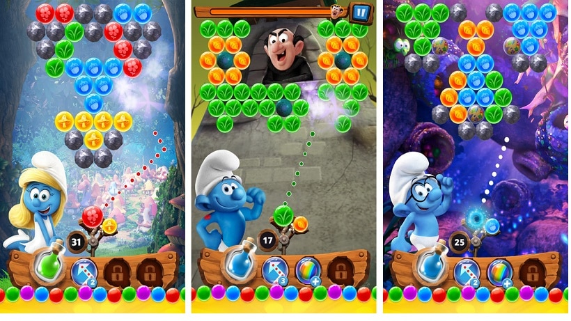 Das Spiel zum Film: Schlümpfe - Bubble Geschichte