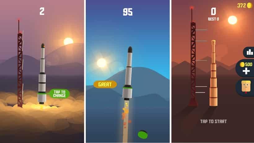 Schießt in Space Frontier Raketen ab