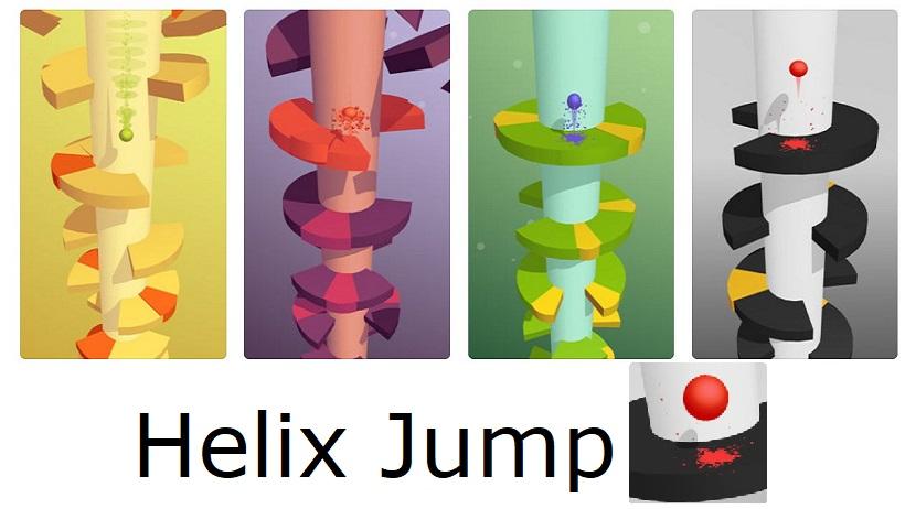 Hohe Suchtgefahr in Helix Jump garantiert!