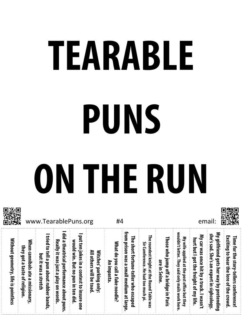 Tearable Puns: Posters