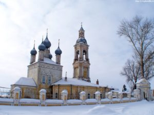 Никольская церковь села Саметь Костромской области