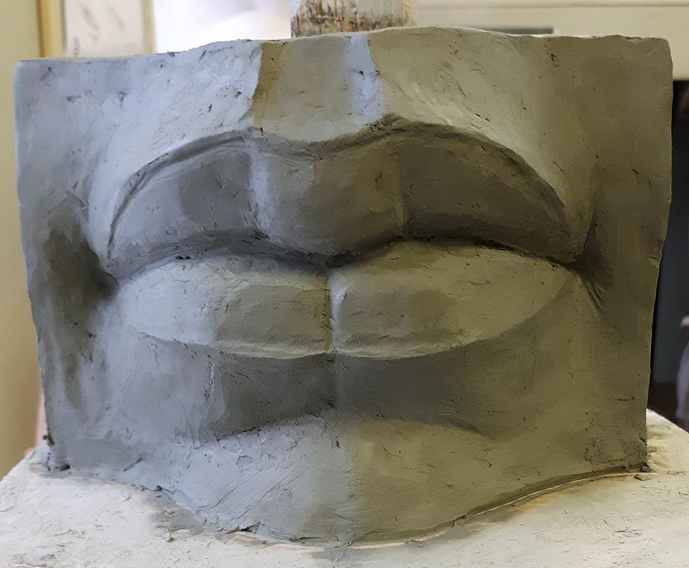 Скульптура «Давид» Микеланджело. Губы.