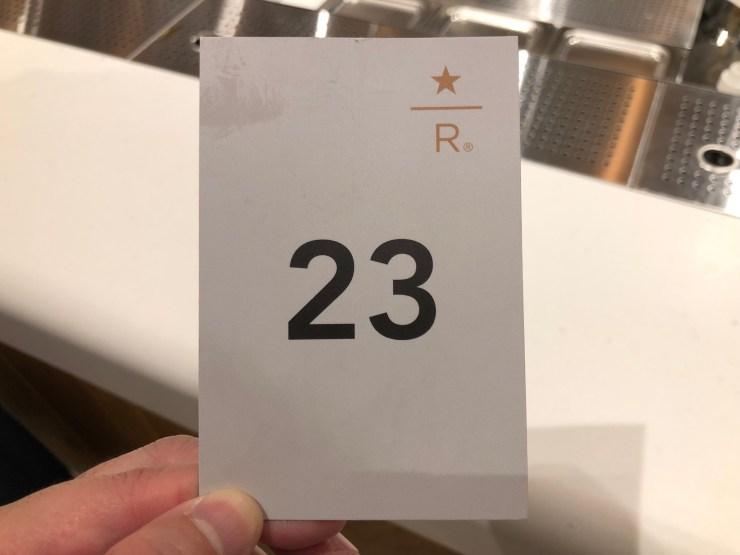 注文後の整理番号