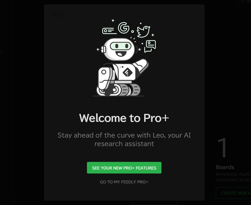 Feedly Pro+へのアップグレード