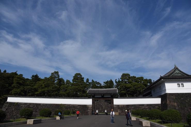 編集前の桜田門の写真