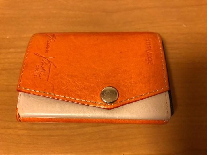 小さい財布オレンジ