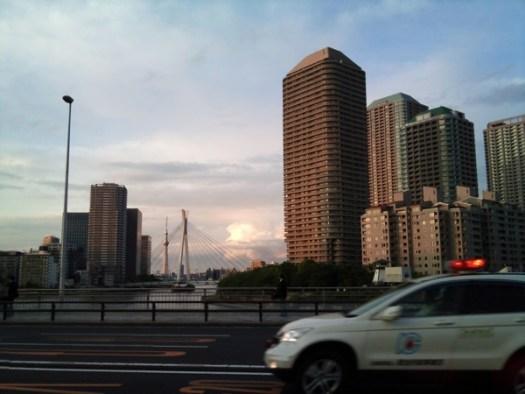 佃大橋から東京スカイツリー