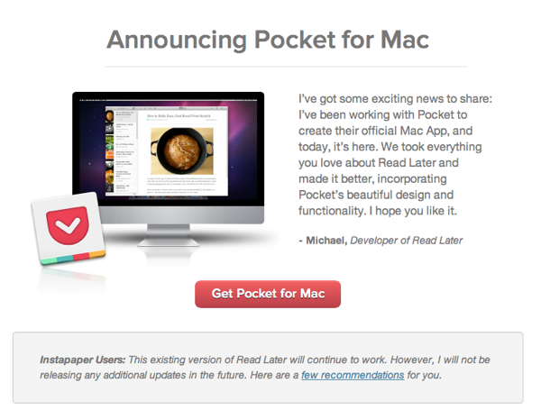 Announcing Pocket for Mac