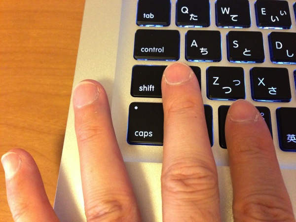 Mac書式なしペーストのオプションボタン群の押し方