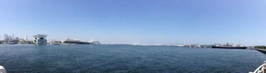 山下公園から横浜港を撮影したパノラマ写真