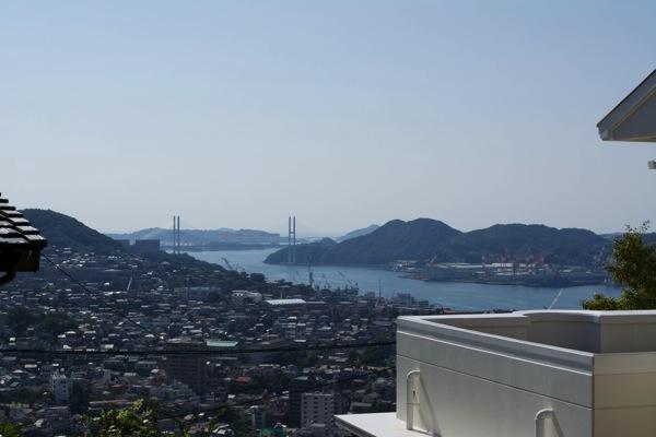 山からの長崎港女神大橋