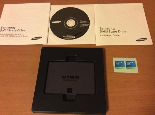 Samsung 840 EVOの内容物